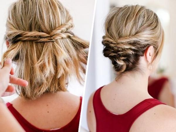 Ideas bonitas para peinados para bodas pelo corto Colección De Cortes De Pelo Tutoriales - Peinados pelo corto para bodas con tocado | Uñas Acrilicas