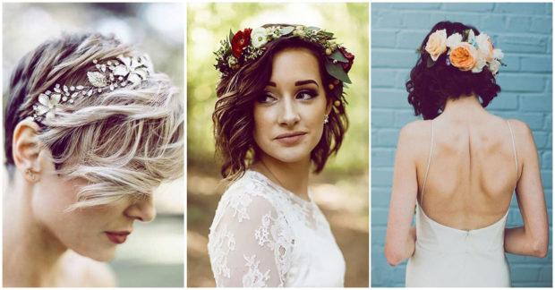 Peinados para fiesta de matrimonio pelo corto