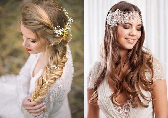 Ideas de estilo para peinados con trenzas para bodas Imagen de cortes de pelo tutoriales - Peinados para bodas con trenzas | Uñas Acrilicas