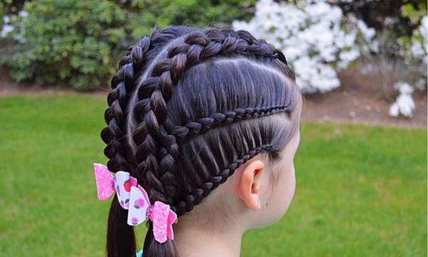 Peinados para niñas paso a paso con ligas