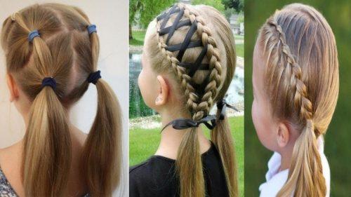 Como hacer peinados de niñas con cintas