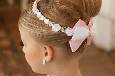 Peinados de niñas para bodas recogido