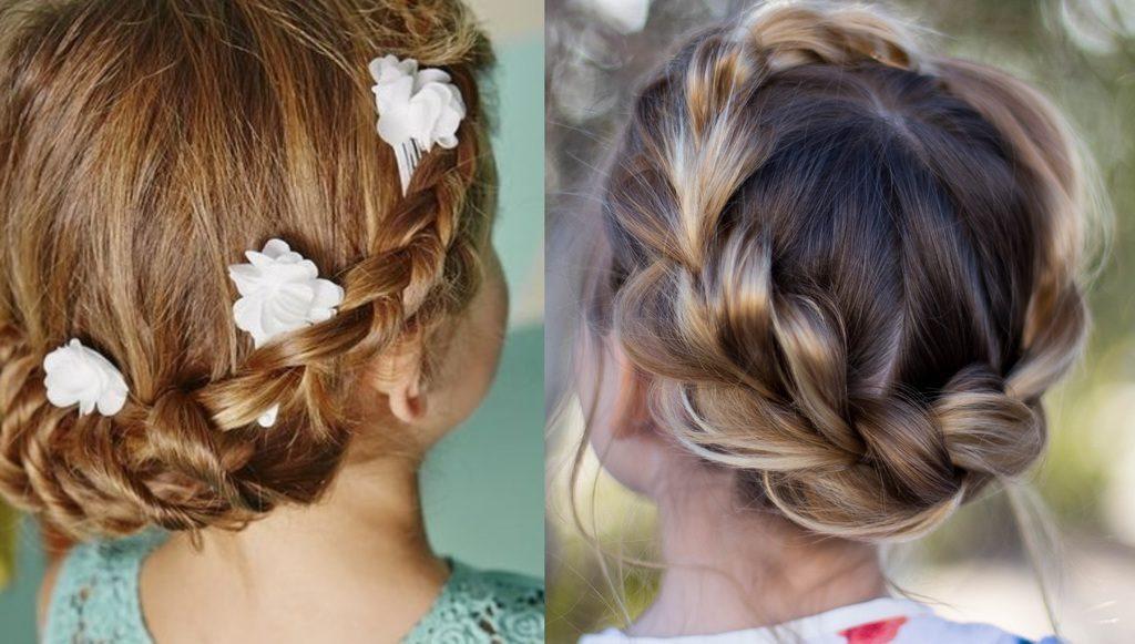 Peinados de niñas para bautizo