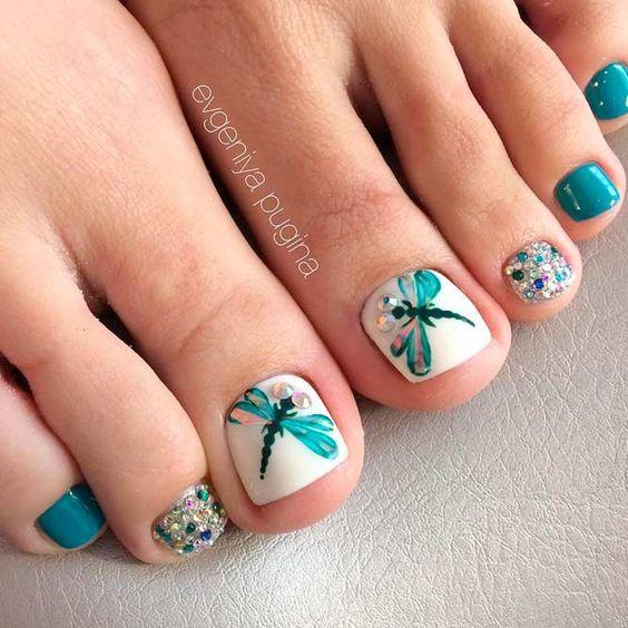 Diseños de uñas para pies   Uñas Acrilicas