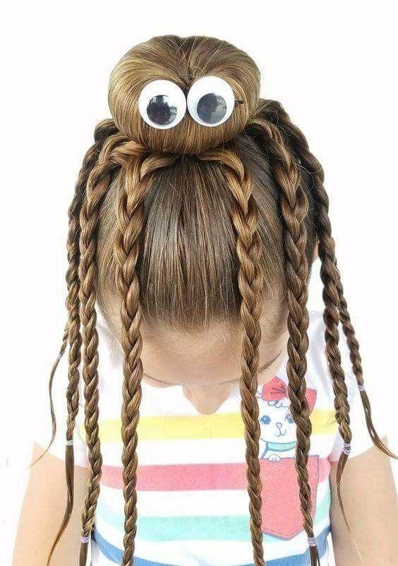 Peinados locos para niñas Con poco cabello