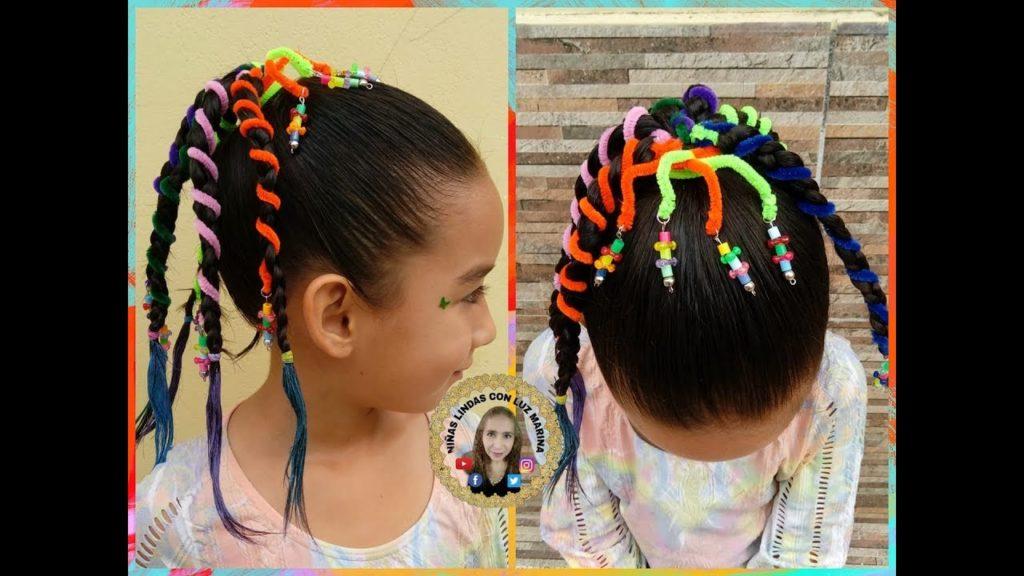 Fabuloso peinados locos para niñas Fotos de cortes de pelo Consejos - Peinados locos para niñas con limpiapipas | Uñas Acrilicas