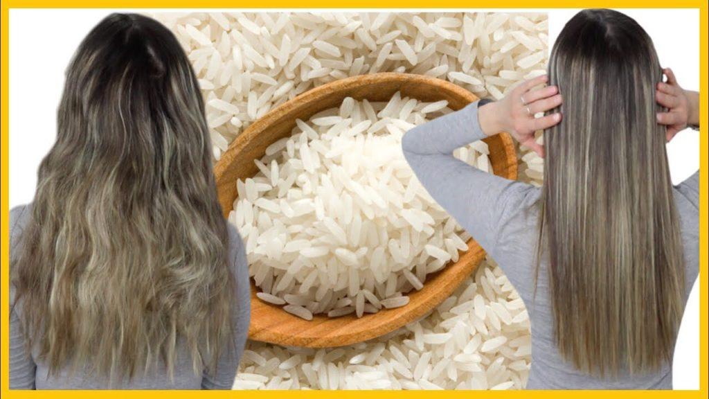 cabello liso con arroz