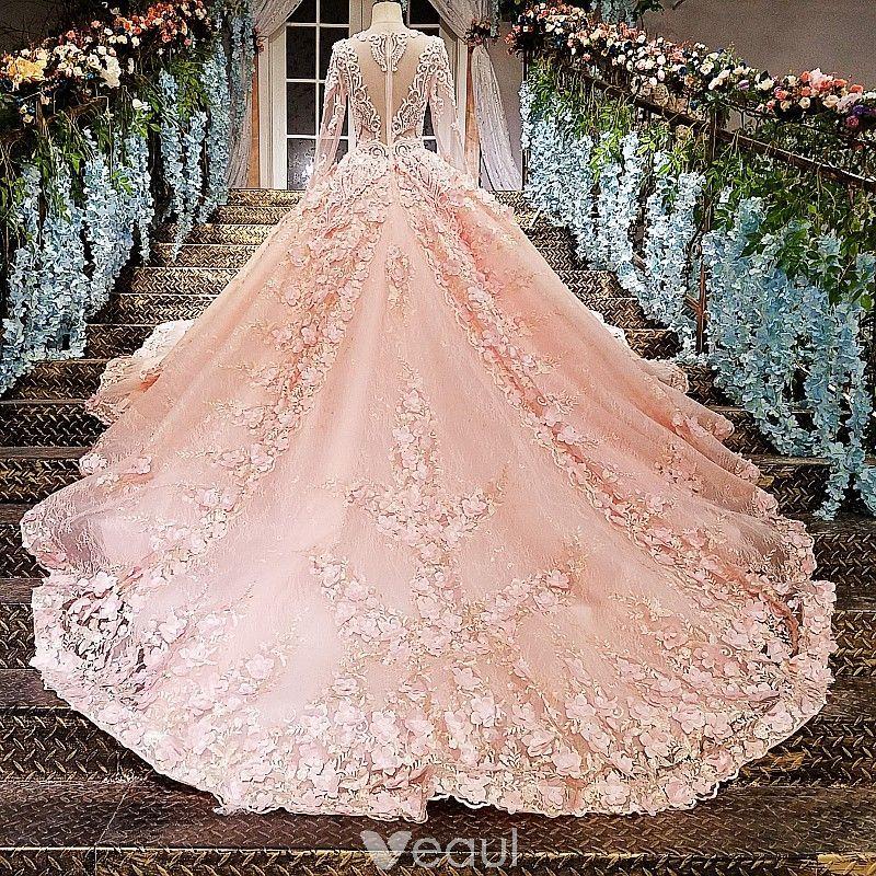 Wedding dressespink