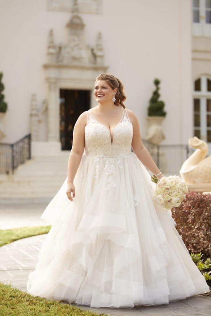 Wedding dresses short plus size